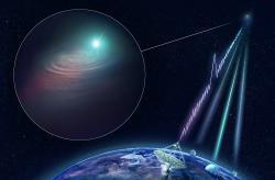 Příběh detekce záblesku FRB 180924 na jednom obrázku.