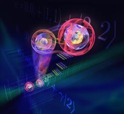 3D kvantová teleportace. Kredit: ÖAW/Harald Ritsch.