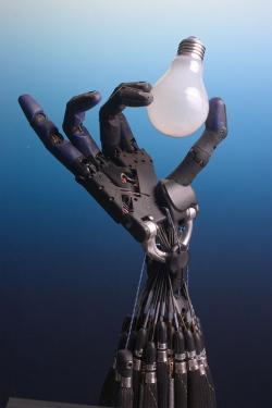 Umělé inteligence si brousí drápy na matemetické důkazy. Kredit: Richard Greenhill & Hugo Elias, Shadow Robot Company.