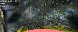 Situace uvnitř kontejnmentu druhého bloku, dobře jsou vidět zničené části roštové podlahy (zdroj TEPCO)