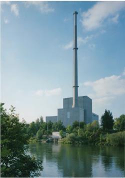 Takhle vypadala elektrárny Niederaichbach před vyřazením (zdroj B. Brendebach et all: Decommissioning of Nuclear Facilities, GRS, 2017).