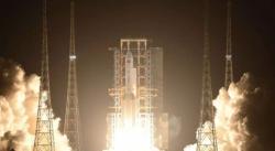 Úspěšný start rakety Dlouhý pochod 5 koncem roku 2019 otevřel cestu i k nové měsíční misi (zdroj CASC).
