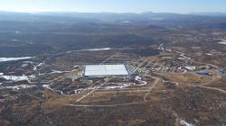 Large High Altitude Air Shower Observatory, duben 2019. Kredit: IHEP/LHAASO Collaboration.