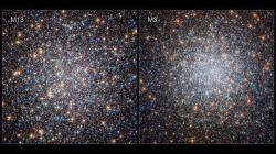 Hvězdokupa M13 versus M3. Kredit: ESA/Hubble, NASA, and G. Piotto et al.