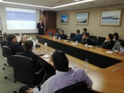 Jednání s představiteli univerzity KINGS o možnostech spolupráce při výchově jaderných odborníků (fotograf KHNP).