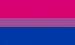 Vlajka bisexuální hrdosti, volné dílo.
