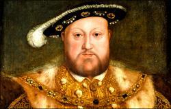 Na Jindřicha VIII a vládu jeho rozpadlé osobnosti jsou Angličané hrdí asi tak, jako Rusové na svého Ivana Hrozného.   (Kredit BBC, neznámý malíř).
