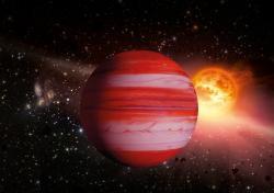 Planeta Makropulos u hvězdy Absolutno (zdroj AV ČR).