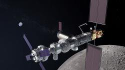 Předběžná představa o vzhledu stanice Deep Space Gateway (zdroj NASA).