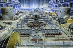 Strojovna druhého bloku druhé fáze Leningradské jaderné elektrárny už je téměř hotová (zdroj Leningradská jaderná elektrárna).