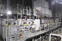 Zařízení na dočišťování radioaktivní vody od všech radionuklidů kromě tritia (zdroj TEPCO).