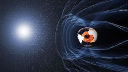 Magnetické pole Země. Kredit: ESA/ATG medialab.