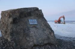 Pamětní kámen počátku výstavby elektrárny Hanhikivi (zdroj Rosatom).