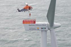 Provozování větrné farmy Dan Tysk (zdroj Vattenfall).