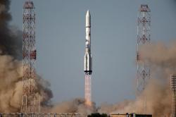 Start rakety Proton (zdroj ILS).