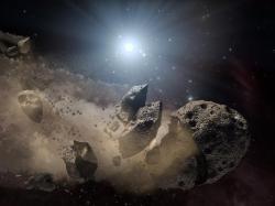 Nekroplanetologie vsoustavě bílého trpaslíka. Kredit: NASA.