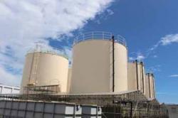 Nádrže u zařízení určeného pro dočišťování radioaktivní vody(zdroj TEPCO).