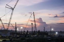Výstavba jaderné elektrárny Rooppur (zdroj Rosatom).