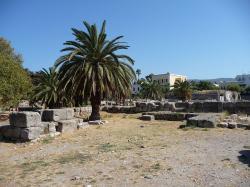 Agora v městečku Kos. Kredit: Wikimedia Commons.