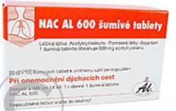 NAC AL 600 ŠUMIVÉ TABLETY na Lekarna.cz seženete za 159 Kč  a ušetříte 11 % (19 Kč)