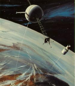 Zatím probíhají první testy využití dlouhých lan ve vesmíru (zdroj Tethers In Space Handbook – Second Edition, 1989).