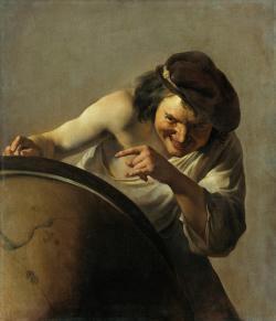 Johannes Moreelse (1630): Smějící se Démokritos. Nelekejte se, s reálným Démokritem to nemá nic společného. Kredit: Wikimedia Commons.