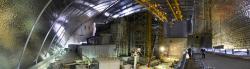 Vnitřní prostory nového sarkofágu (zdroj Černobylská jaderná elektrárna).