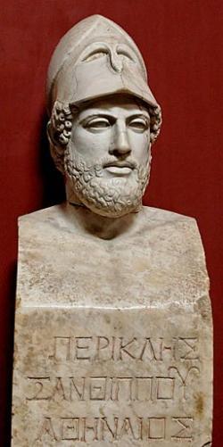 Periklés, římská kopie řeckého originálu z roku 430 před n. l. Kredit: Wikimedia Commons.