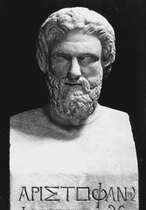 Aristofanés. Kredit: Wikimedia Commons.
