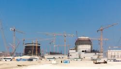 Bloky 3 a 4 elektrárny Barakah v e Spojených arabských emirátech na začátku roku 2017 (zdroj Enec).