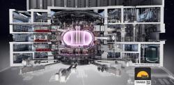 Schéma tokamaku ITER (zdroj ITER).