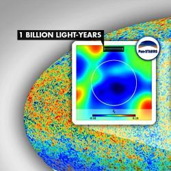 Co je zač Chladná skvrna? Kredit: ESA Planck Collaboration.