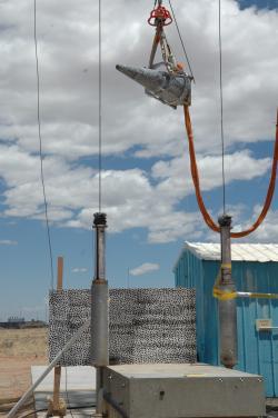Test odolnosti hlavice W88 Alt 370 při pádu. Kredit: Sandia National Laboratories.