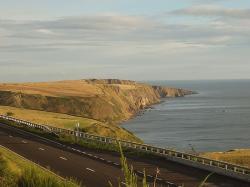 Britská dálnice A1 ve Skotsku, těsně za hranicí sNorthumberlandem. Kredit: Stevekeiretsu / Wikimedia Commons.
