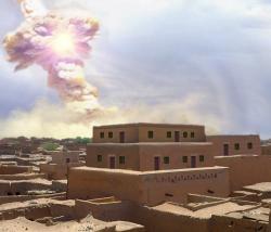 Rekonstrukce apokalypsy vBeth Haram. Kredit: Allen West & Jennifer Rice.