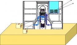 Schéma experimentu provádějícího tomografii prvního bloku (zdroj TEPCO)
