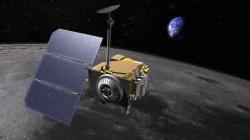 Družice Lunar Reconnaissance Orbiter provádí velmi přesné studium topografie Měsíce (zdroj NASA).