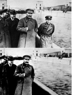 """Připomíná to doby, kdy Sovětský svaz přepisoval učebnice dějepisu, aby z dějin komunistické strany vymazal zmínky o lidech, kteří se znelíbili Stalinovi. Klimatolog by to vysvětlil asi takto: """"Skvrna, která vypadala jako Ježov, byla jen artefakt způsobený odrazem světla."""