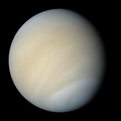 Venuše, jak by ji vidělo lidské oko. Zdroj: Mattias Malmer / NASA