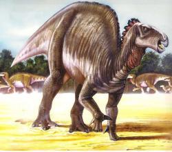 Antonín Frič již koncem 19. století věřil, že jím popsané fragmenty křídových kostí patřily dinosaurovi z příbuzenstva rodu Iguanodon (na obrázku). Současný výzkum mu dává zapravdu, i když o totožnosti možných dinosaurů od Srnojed a Holubic zatím nevíme nic bližšího. Jisté je, že o geologicky mnohem starší rod Iguanodon se jednat nemohlo. Kredit: Luis V. Rey