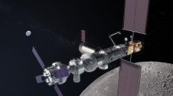 Lunární orbitální stanice Gateway a vesmírná loď Orion se budou pohybovat mimo ochranou vrstvu zemské magnetosféry (zdroj NASA).