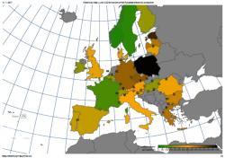 Online zobrazení emisí ukazuje, že státy využívající kombinaci jádra a obnovitelných zdrojů mají nízké emise a jsou zbarveny do zelena (https://www.electricitymap.org/ ).