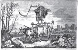 Triumf smrti. Kredit: Bartolomeo Crivellari & Gaetano Zompini (1756).