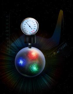 Jaký je tlak uvnitř protonu? Kredit: DOE's Jefferson Lab.