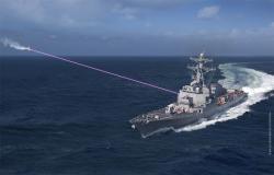 HELIOS na torpédoborci. Kredit: Lockheed Martin.