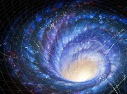 Skrývají se vsrdci galaxií červí díry? Kredit: M. A. Garlick/Wikipedia Creative Commons.