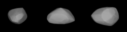 Model planetky Apophis. Kredit: Astronomical Institute of the Charles University: Josef Ďurech, Vojtěch Sidorin.