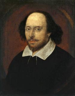 William Shakespeare zemřel 23. dubna 1616 ve věku 52 let. Přesný den narození není znám, ale pokřtěn byl podle dobových záznamů 26. dubna 1564.  Kredit: John Taylor, volné dílo.