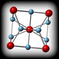 Krystalická struktura nové slitiny. Kredit: E. Morosan / Rice University.