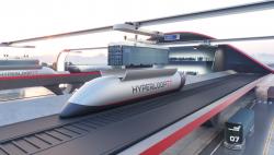 Kapsle hyperloopu pro nákladní přepravu. Kredit: Hyperloop Transport Technologies.